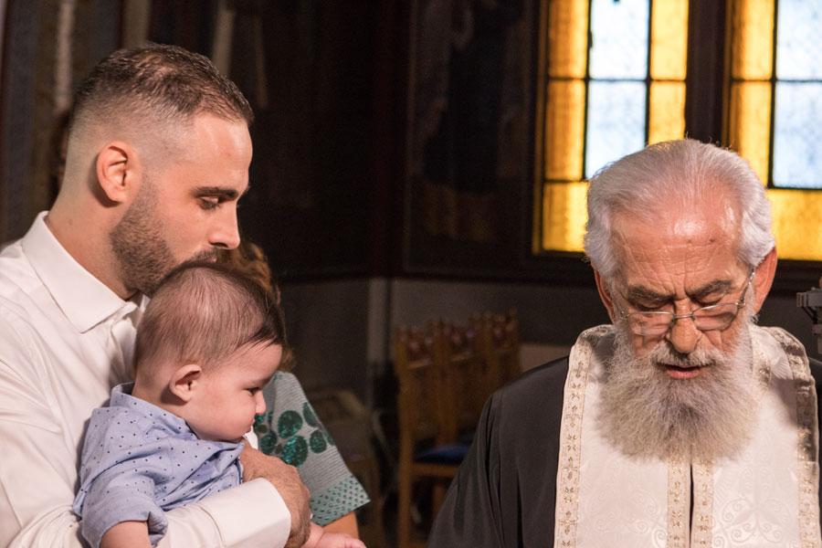 Νονός και Βαπτιστήρι Τελετή Βάπτισης